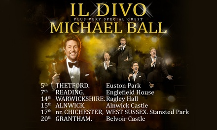 Il Divo - Summer House Sounds, Seated Tickets, 5-20 July, Multiple Locations (Up to 44% Off)