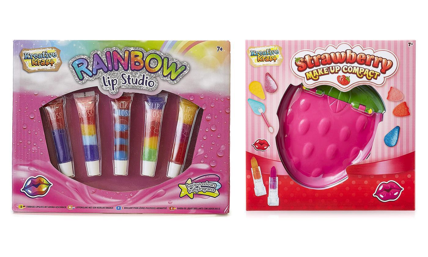 Kids' Strawberry Make-Up Compact, Rainbow Lip Studio or Both