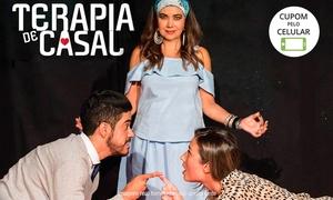 """Grupo Amarração: """"Terapia de Casal"""" – Teatro da CAESB: 1 ingresso para 28/07, às 21h"""