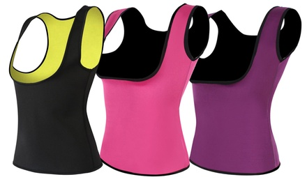 Women's Fitness Compression Sweat Vest. Extended Sizes Available.