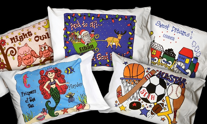 Good Pillow Talk Kids: One Or Two Personalized Kidsu0027 Pillowcases From Pillow Talk  Kids ... Pictures Gallery