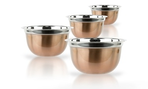 4-piece German Mixing-bowl Set In Stainless Steel