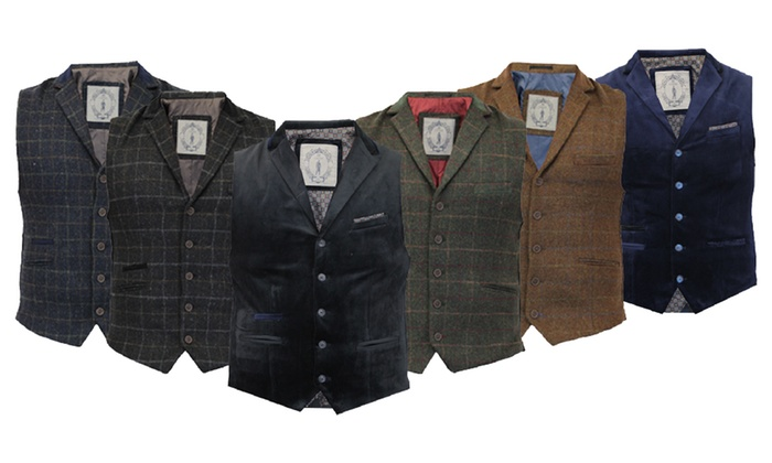 gilet de costume cavani en tweed groupon shopping. Black Bedroom Furniture Sets. Home Design Ideas
