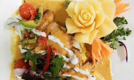 AllYouCanEat ThreeCourse Thai Evening Buffet for Up to Six at Just Thai