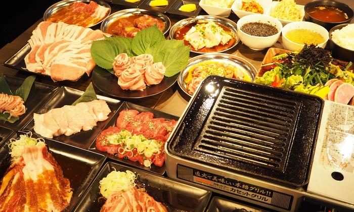 肉CHIKA - 渋谷区: 牛も豚もホルモンも。渋谷センター街で、たらふく肉を頬張るなら≪焼肉など食べ放題(87種)+120分飲み放題付/他1メニュー≫ @肉CHIKA