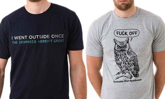 Men's Sarcastic T-Shirts (£1.99 for Delivery) for £7.99
