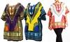 Women's Cotton Dashiki Top Tunic. Plus Sizes Available.
