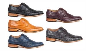 Gino Vitale Men's Diamond-Cut Lace-Up Dress Shoes