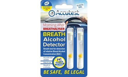 One, Two or Three Breath Alcohol Detector Breathalyser TwinPacks