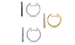 1/10 CTTW Diamond Hoop-Earring Set by Brilliant Diamond