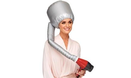 1 o 2 cuffie a casco per capelli ricci con diffusore da viaggio pieghevole