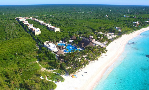TripAlertz wants you to check out ✈ All-Inclusive Catalonia Royal Tulum Stay w/ Air. Price per Person Based on Double Occupancy (Buy 1 Groupon/Person). ✈ All-Inclusive Riviera Maya Vacation with Airfare from Travel by Jen - All-Inclusive Mexico Vacation