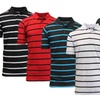 Men's Striped Pique Polos with Free Solid Polo