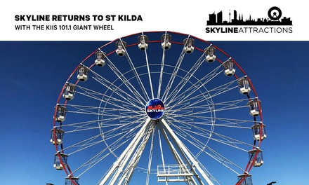 St Kilda KIIS 101.1 Giant Wheel Ticket for One Person $6 or Up to Six People $18 from SkyLine Australia Up to $30