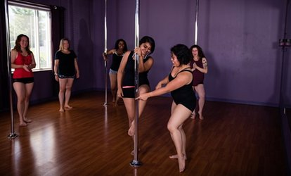 image for 90-Minute Introductory Pole-Dancing or Burlesque Class at Tease Dance and <strong>Fitness</strong> (55% Off)