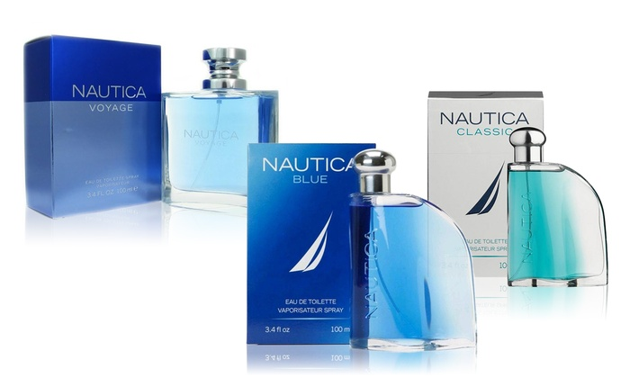 Nautica Blue, Classic, or Voyage Eau de Toilette for Men (3.4 Fl. Oz.)