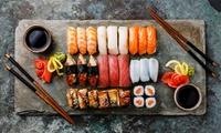 Menú japonés para llevar para 2 o 4 personas con 40 u 80 piezas de sushi y bebida desde 19,95 € en Kenji Sushi