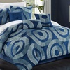 Friday Printed Contemporary Comforter Set (7pc)