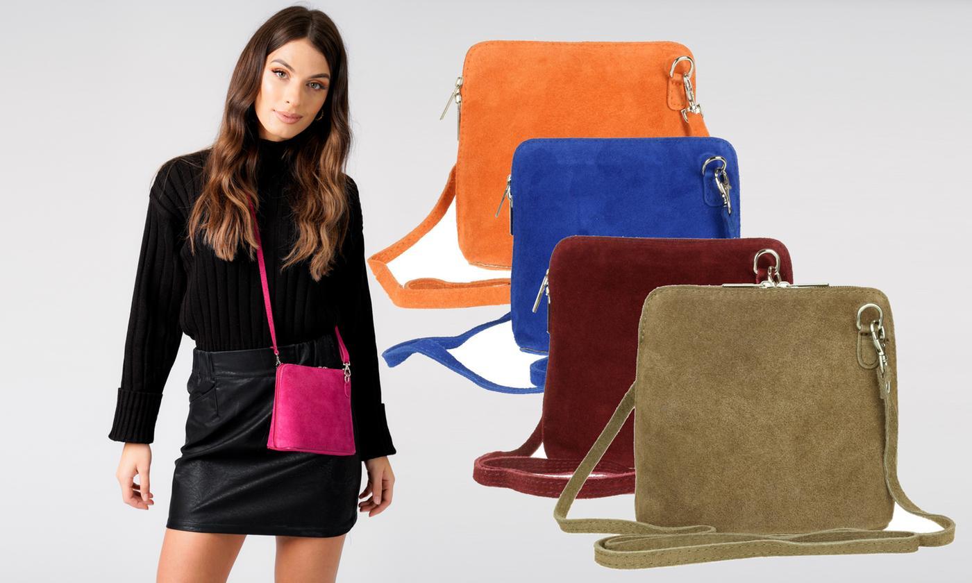 Girly Handbags Suede Messenger Bag