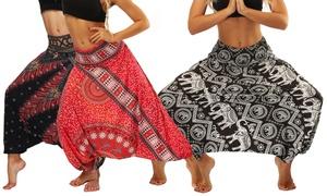 Pantalon femme sarouel large Harem
