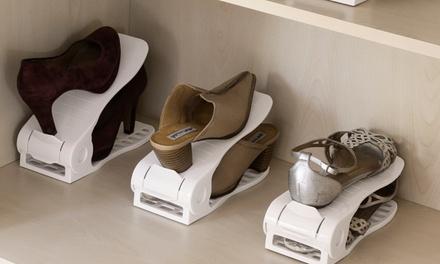 6 organizadores de zapatos regulable InnovaGoods