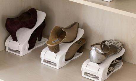 6 organizadores de zapatos regulables INNOVAGOODS