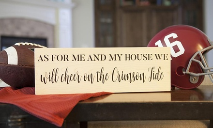 One, Two, or Three Personalized Sports Team Home Decor Signs from Qualtry (Up to 44% Off)