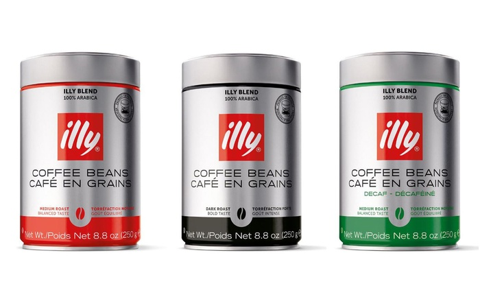 Illy Ground Or Whole Bean Coffee Groupon