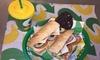 Sandwich-Menü zum Mitnehmen