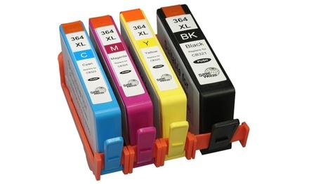 Pack de 4, 8 ou 12 cartouches d'encre équivalent HP 364 XL