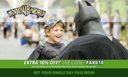 image for Warner Bros. Movie World: Child ($79) or Adult ($89) Single Day Pass (Up to $99 Value*)