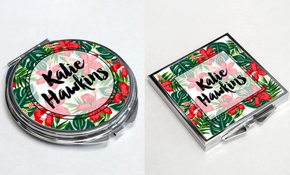 One or Two Personalised Pocket Mirrors from Personalised Gift Market (Up to 65% Off)