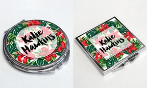 Personalised Gift Market: One or Two Personalised Pocket Mirrors from Personalised Gift Market (Up to 65% Off)