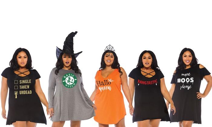 Leg Avenue Halloween Jersey Dress. Plus Sizes Available ...