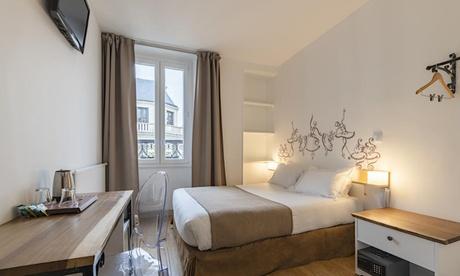 París - Montmartre: habitación doble con desayuno opcional para 2 personas en el hotel Korner Opéra