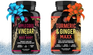 Angry Supplements Apple Cider Vinegar and Turmeric Ginger Maxx (2-Pc.)