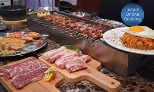 Gong Korean BBQ Restaurant: Korean Barbecue Banquet with Beer for Two ($39) or Four ($75) at Gong Korean BBQ Restaurant (Up to $176.70 Value)