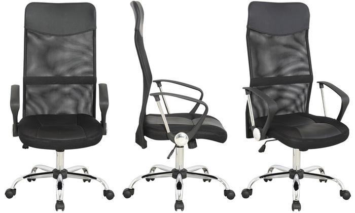 chaise de bureau moderne groupon. Black Bedroom Furniture Sets. Home Design Ideas
