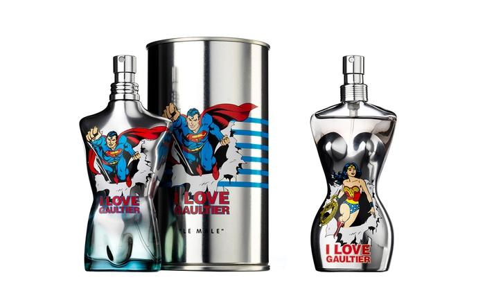 Jean Paul Gaultier Le Male Superman 75ml or Wonder Woman 50ml Eau Fraiche for £29.98