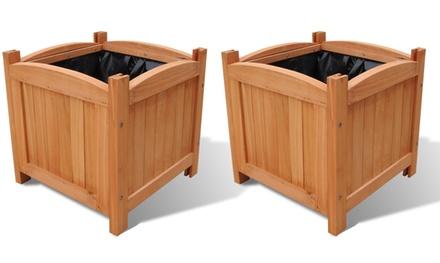 Set da 2 fioriere in legno groupon goods for Groupon arredo giardino