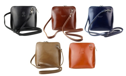Vera Pelle Cross-Body Calf Leather Messenger Shoulder Bag in a Choice of Colour