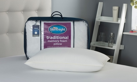 One or Two Silentnight Traditional Memory Foam Pillows