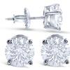 Custom 14K White Gold Diamond Stud EarringsNina Elle Jewels