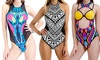 One-Piece Colorful Swimsuit: One-Piece Colorful Swimsuit