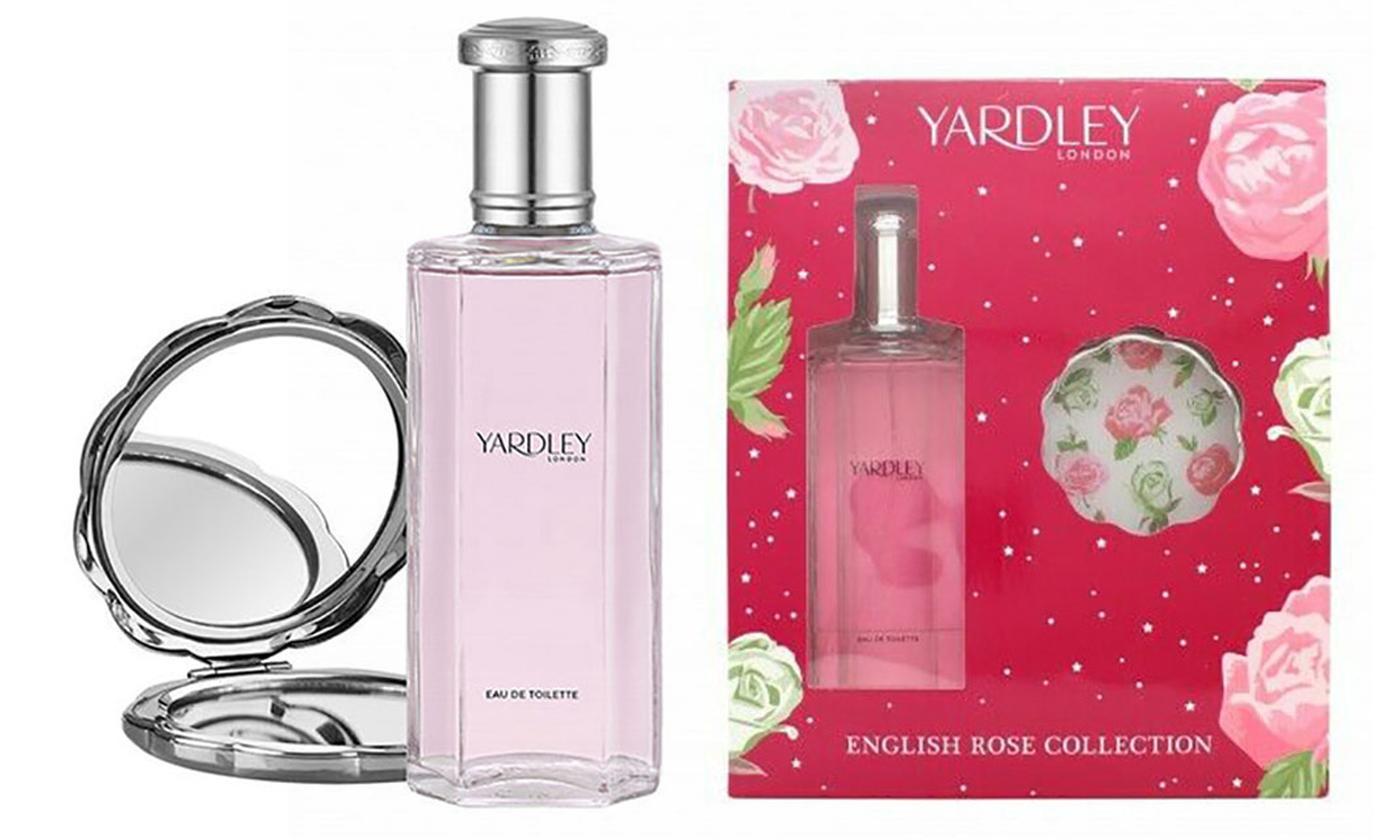 Yardley English Rose 125ml Eau de Toilette and Compact Mirror Gift Set