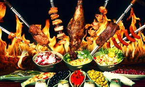 Rodizio Rio: Rodizio All-you-can-eat inkl. Dessert bei Rodizio Rio (34% sparen*)