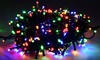 100 Solar LED Fairy Lights Multicolor: Multicolored Solar LED Fairy Lights