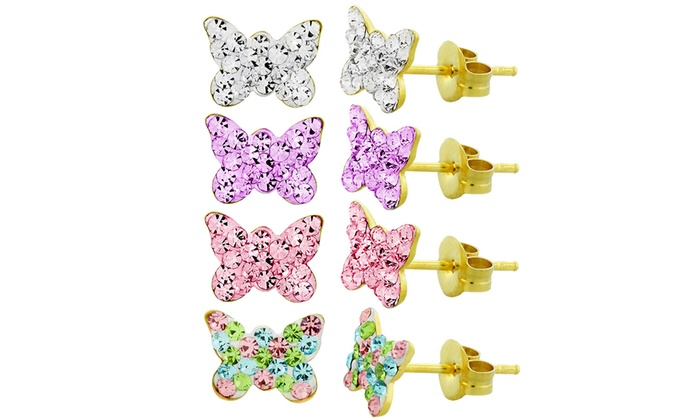 3a57875b5 Kids 14K Gold Butterfly Earrings | Groupon Goods