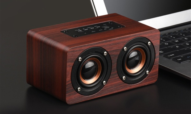 Portable Wooden Bluetooth Speaker: One ($25) or Two ($45)