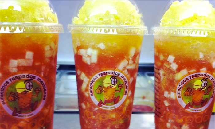 Raspado Xpress - Multiple Locations: $15 for 5 Groupons, Each Good for a Large Specialty Drink, Raspado, or Smoothie at Raspado Xpress ($24.50 Total Value)